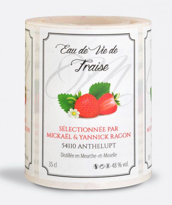 Étiquette adhésive bouteille, flacon, pot