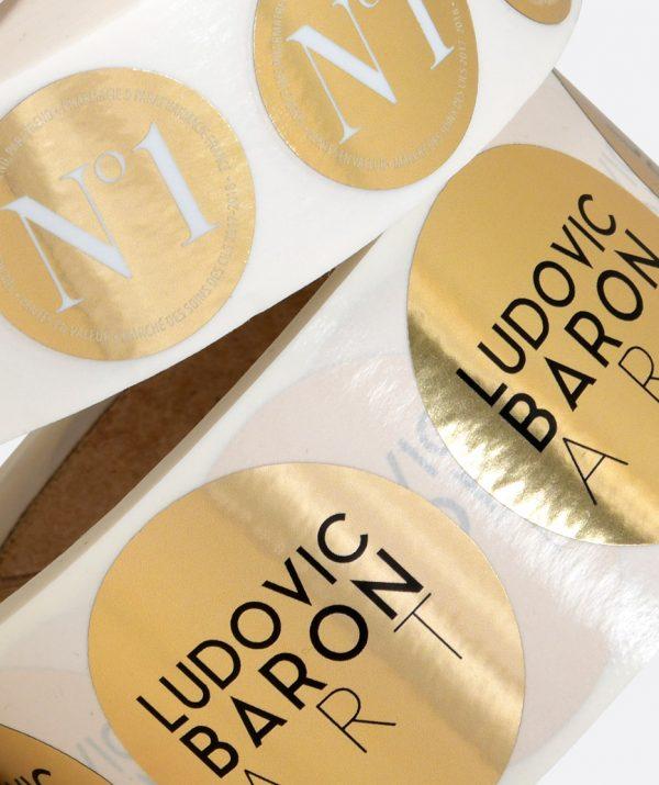 Étiquette or, argent, métallisée