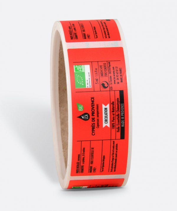 Étiquettes pour huiles essentielles