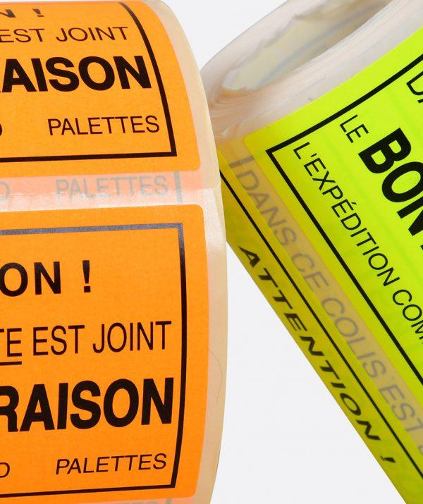 Étiquette de transport & livraison