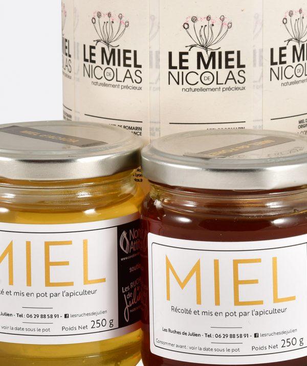 Étiquette de miel