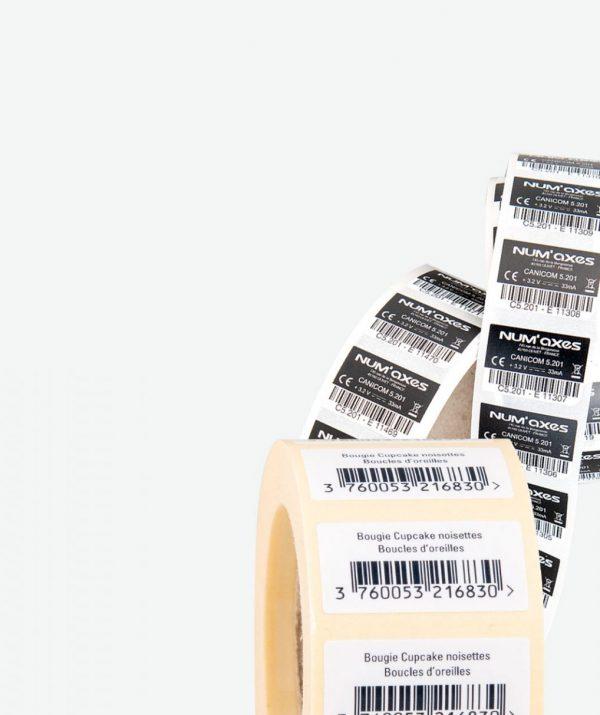 Étiquette code-barre et données variables